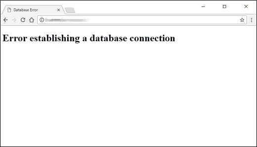 Mất kết nối đến Database